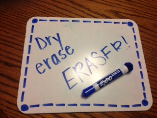 DIY Dry Erase Marker with Attached Eraser