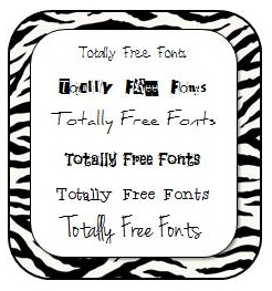 Totally Free Fonts
